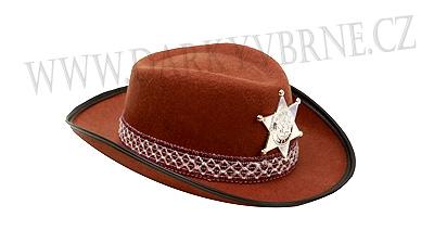 Klobouk šerif s hvězdou dětský hnědý  4805c87bbe