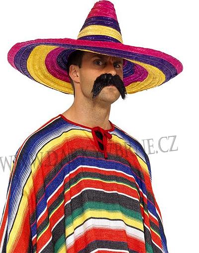 Klobouk slaměný Mexický multicolor  382c007ac5