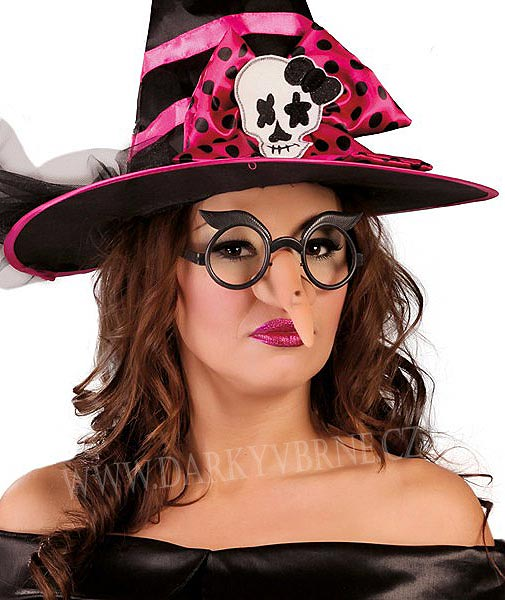 Brýle čarodějnice s nosem