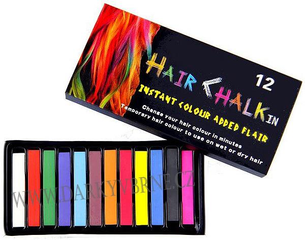 Barevné křídy na vlasy (Speciální barevné křídy jsou skvělým způ