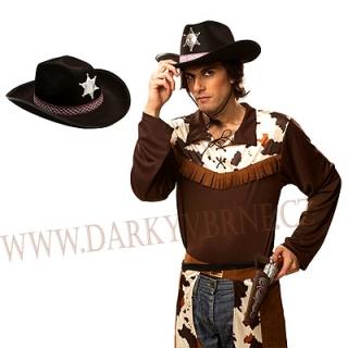 Klobouk šerif s hvězdou černý empty 53e174f179
